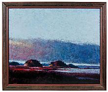 Oil on canvas, landscape, signed Eckhart
