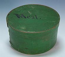 19th c. orig green painted pantry box