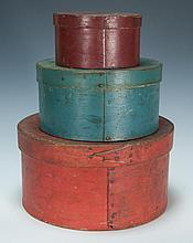 19th c. painted pantry boxes