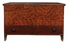 19th c. single drawer blanket chest
