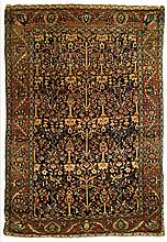 Antique Sarouk garden rug, 4' x 7' 8
