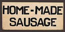 Sign, Home-made Sausage