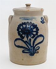 2-gal crock - blue corn flower