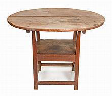 Birch hutch table