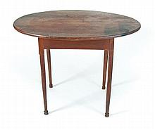 Queen Anne cherry oval table