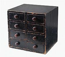 19th c. pine 8-drawer cabinet
