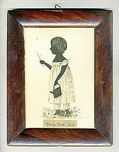 19th c. silhouette of child