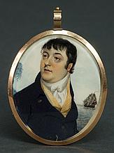 Miniature oval portrait of Capt. Jeremiah O'Brien