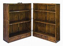 19th c. trunk/bookcase, hinged
