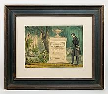 W/C print memorial, Pres. Wm H. Harrison