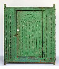 Punched tin food safe, green, hanging