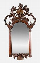 Mirror with basket of fruit on base