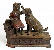 Speaking dog mechanical bank