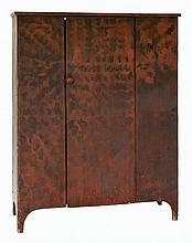 Grain painted cupboard