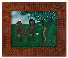 Adam and Eve outsider paintings