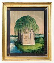 Watercolor memorial, Baker Family