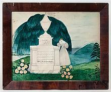 Memorial watercolor, Willis Family