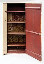 One-door jelly cupboard, yellow over original red
