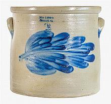 Three-gallon crock, floral branch