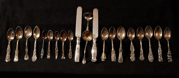 COLLECTION OF MIXED STERLING FLATWARE