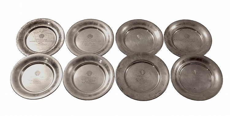STERLING PLATES AND BOWL
