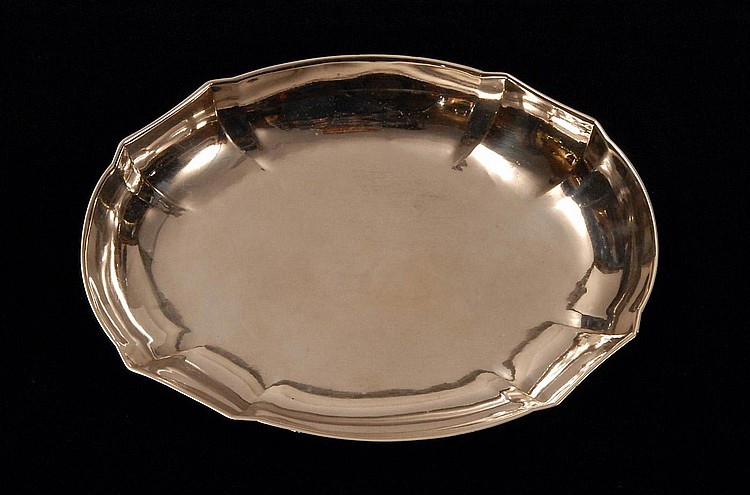 18TH C. COIN SILVER TRAY