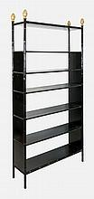 Bookcase, black, 6 shelves
