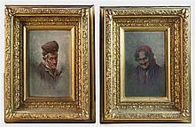 19th c. pair of European portraits
