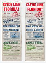 Two steamboat broadside/posters