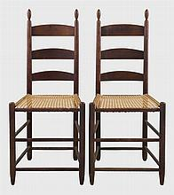Pair Harvard side chairs, tilters