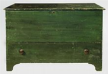 Large dark forest green storage chest