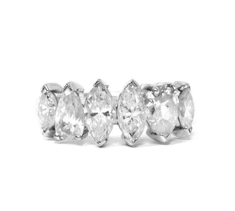 Platinum In-Line 1.75ctw Diamond Ring W4958