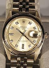 14K YG Rolex Oyster Perpetual Date W20123