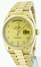 Rolex 18K Yellow Gold 36mm Day-Date WA33003