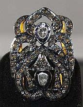 0.45ctw Diamond Silver & Gold Ring W225