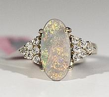 14K YellowGold 2.33ct Opal&0.36cts Diamond Ring WL2252