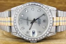 Rolex 18K White Gold Tridor Datejust 36mm WA29553