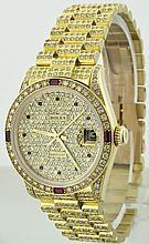 Rolex 18k YG 31mm Lady Datejust 68278 WA31053