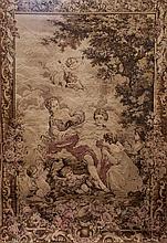 Antique Tapestry Huge Aubosson Style AV1012