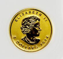 2014 Canada Gold Maple Leaf $5 Coin W545