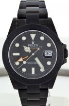 Rolex SS w/ Black DLC Coating Mens Explorer WA27903