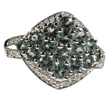 14kt WhiteGold 1.81ctw Alexandrite&Diamond Ring W3001
