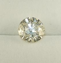 7.56ct Loose Diamond Clarity=I1; Color=H EGL Certified