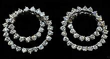 14kt WG 7.05ctw Diamond Earrings W30195