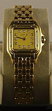 18kt Gold Cartier Panthere Wristwatch W12002