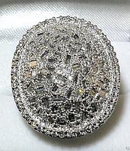 18kt WG 4.04ctw Diamond Ring W12694