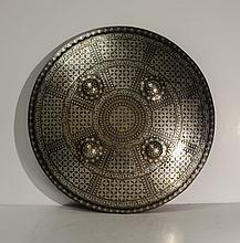 Silver work Untested Shield - Indo Persian W608
