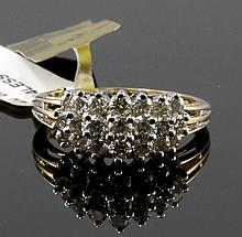 14kt Yellow Gold 0.96ctw Diamond Ring W1690