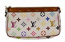 Louis Vuitton Multi Color Wristlet W752