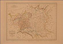 (POLSKA). Carte historique de l;a Pologne presentant ses divers demembremens en 1772, 1794, 1795, 18